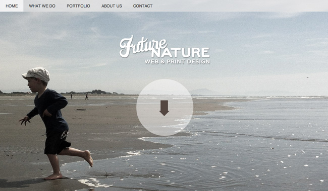 Future Nature web and print design